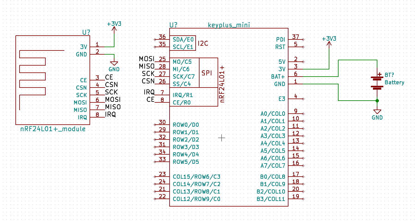 Schematic for the wiring
